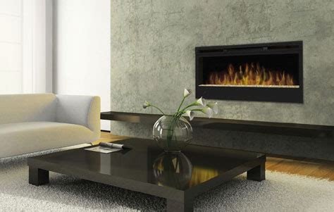 recessed fireplace