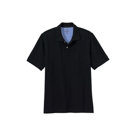 Polo Shirt Black Tide Original lyst lands end black s sleeve original pique