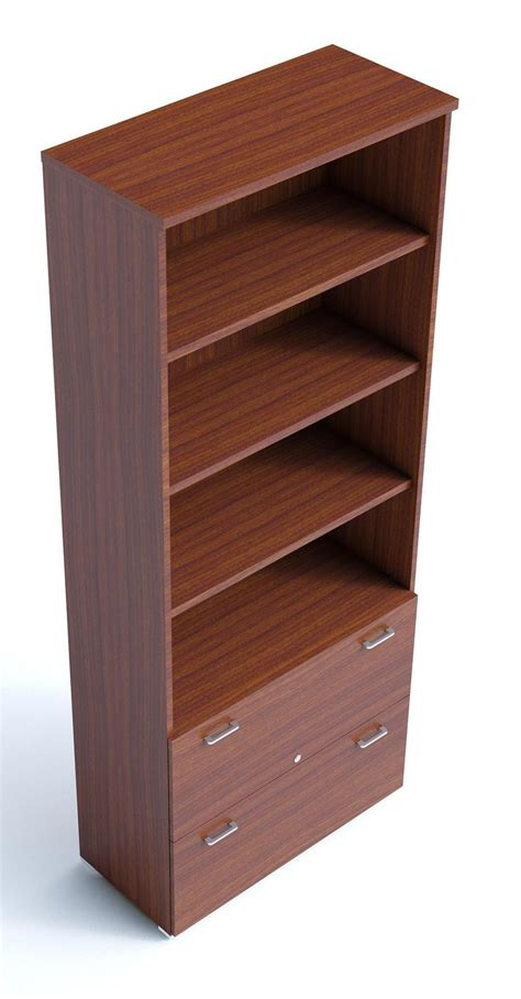 armarios combination bookshelves with filing drawers