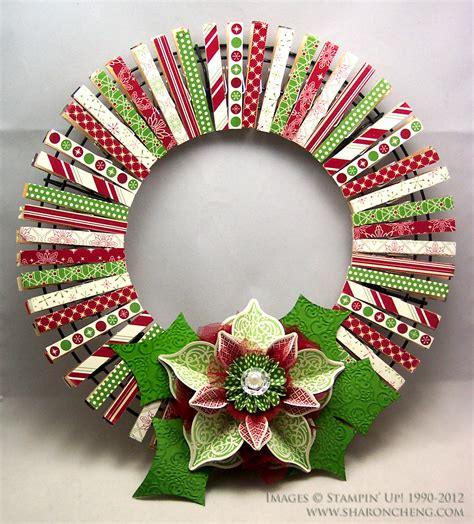 sharing creativity and company christmas clothespin wreath
