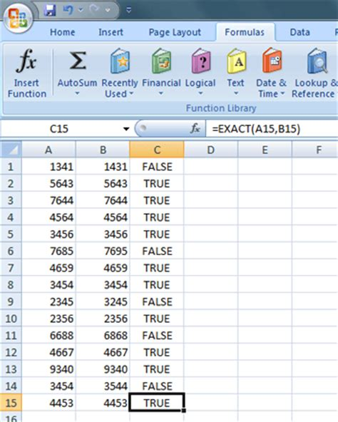 excel format values where this formula is true find out if two cells in excel contain exactly the same
