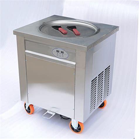 Wotefusi New Ice Cream Roll Machine Single Flat Pans Fried