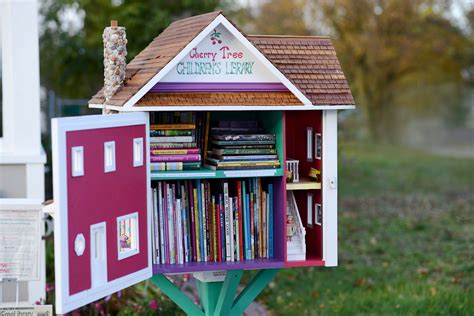 tiny library for the press little free library
