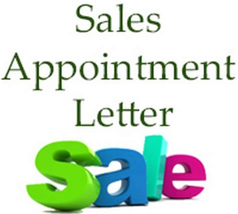 sales appointment letter exles sales appointment letter sales appointment letter sle