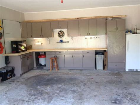 kitchen cabinets in garage happy father s day garage renovation for my dad simply
