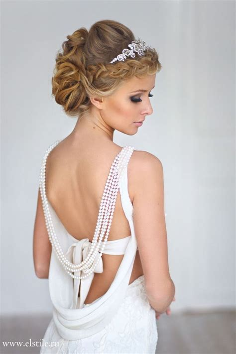 Bridal Hairstyles With Tiara by Wedding Hairstyle With Sleek Curl Updo Tiara Neutral