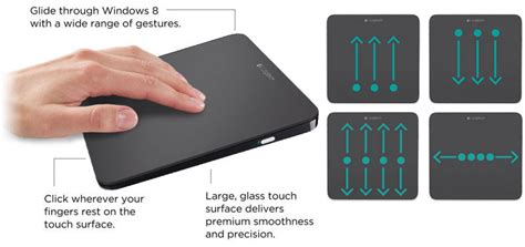 Touchpad Usb logitech glass touchpad made for windows 8 s multi touch everything usb