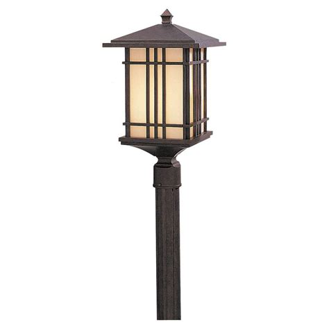 Feiss Prairie House 1 Light Weathered Patina Outdoor Post Prairie Style Outdoor Lighting