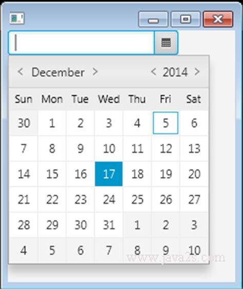 javafx layout null javafx tutorial javafx datepicker