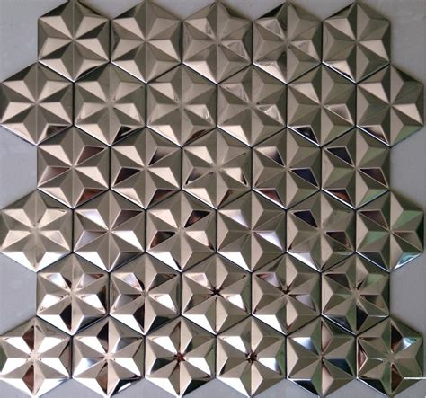 silver metal mosaic stainless steel wall tiles backsplash smmt012 3d mosaic tiles metal mirror