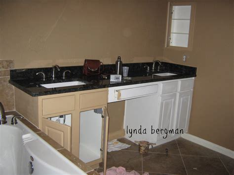 Lynda Bergman Decorative Artisan Painting White Bathroom Painting Wood Cabinets White