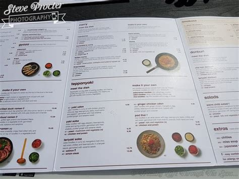 printable voucher wagamama menu picture of wagamama liverpool tripadvisor