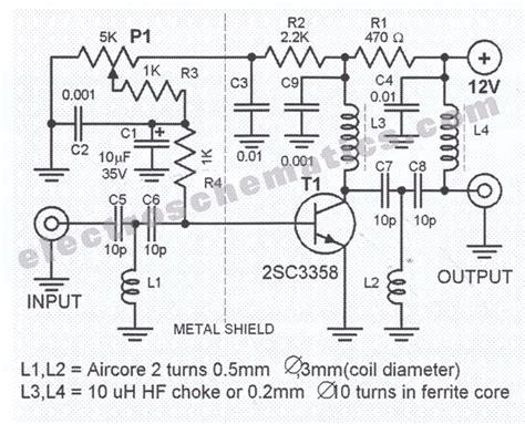 uhf transistor lifier uhf antenna lifier circuit