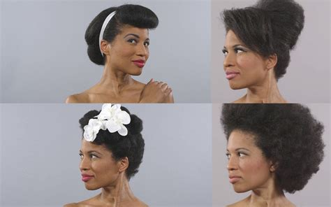 100 years hairstyle images video 100 years of black hair styles in 1 minute black