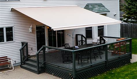 electric awnings for decks electric patio awnings systems for home sunesta