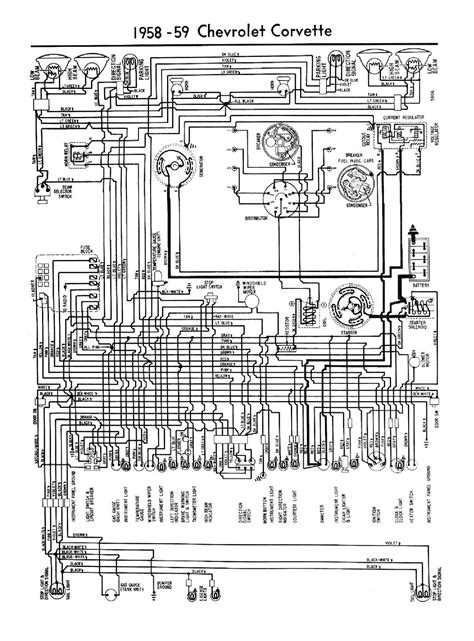 free auto wiring diagram 1958 1959 chevrolet corvette