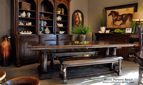 world tuscan style dining room benches