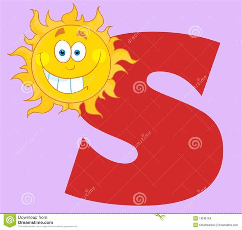 sun lettere happy smiling sun with letters s stock images image