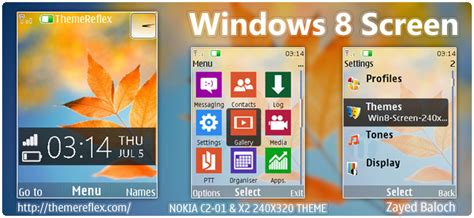 nokia 110 themes windows 8 windows 8 screen theme for nokia x2 00 c2 01 x3 240