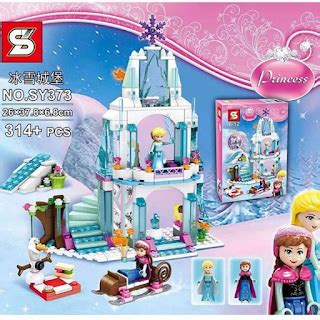 Lego Frozen Princess Elsa Sparkling Castle 314pcs Sy373 Bigbox Mainan Lego Lego Kw Murah Banyak Macam Jakarta Lego