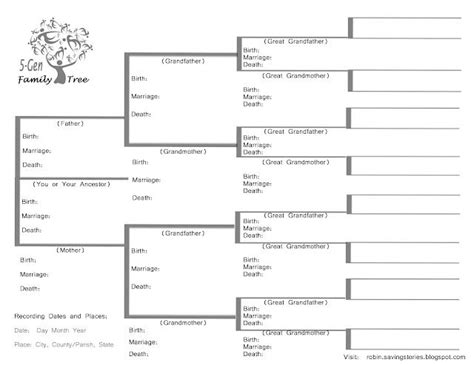 family tree information template a family tree gives information about yourself your