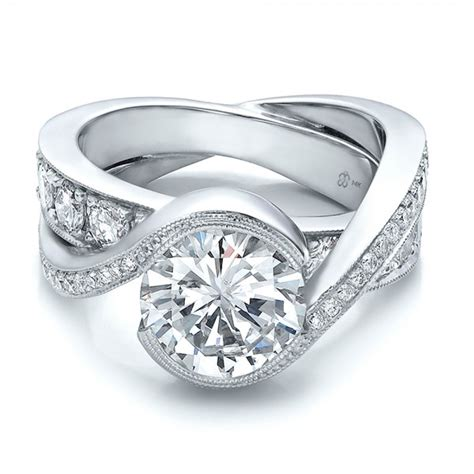 custom interlocking engagement ring bellevue
