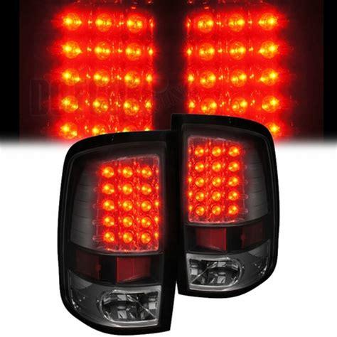 2013 dodge ram tail lights 2009 2013 dodge ram 1500 2500 3500 led tail lights black