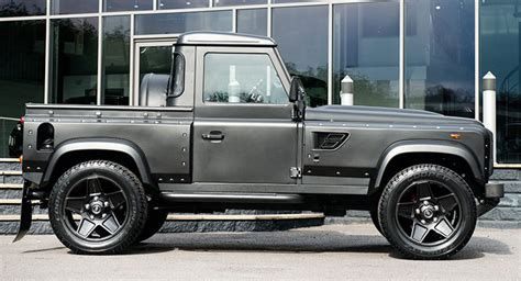 land rover pickup truck kahn makes a pickup truck out of land rover defender