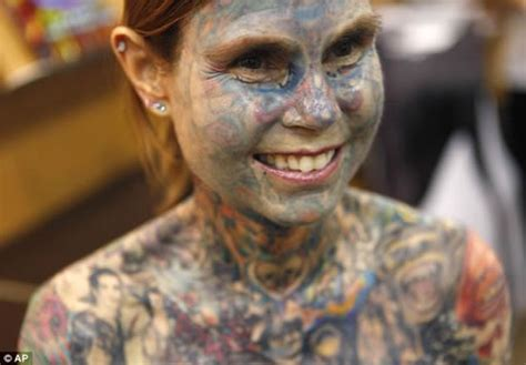 most tattooed woman wow amazing and interesting the most tattooed