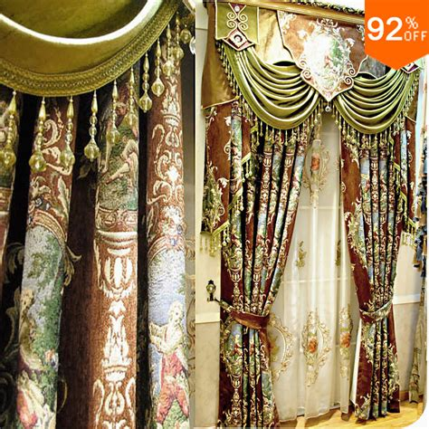 curtain paintings brown green oil painting the virgin uprising curtains