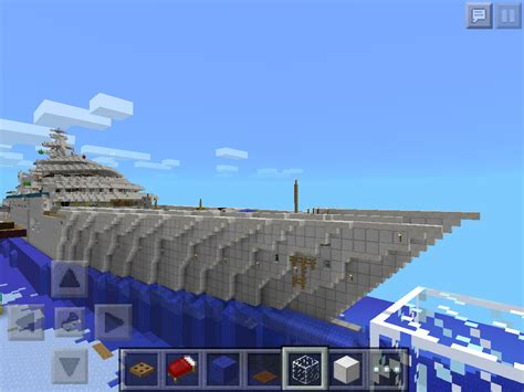 how to make a big yacht in minecraft huge minecraft pocket edition super yacht mcpe show
