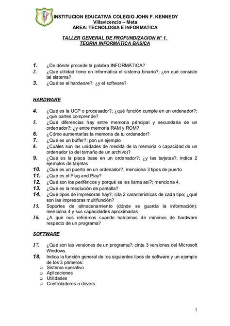 test informatica generale test 1 general de teoria informatica basica