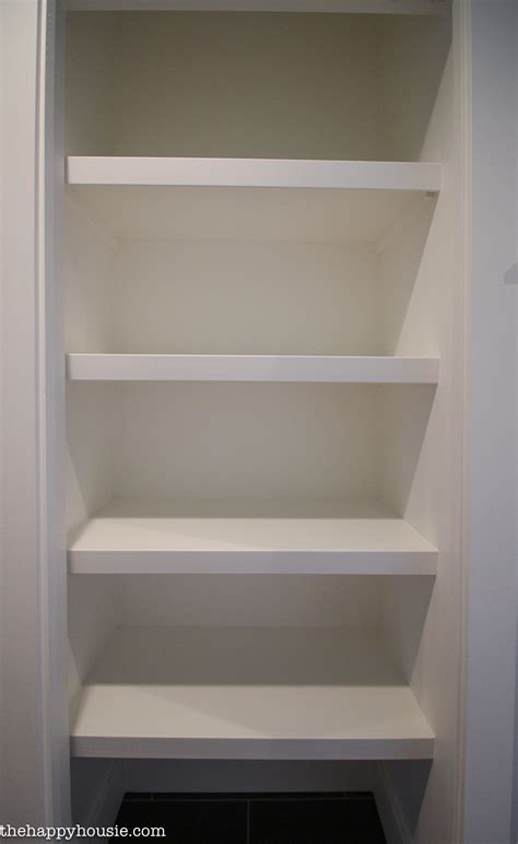 Wooden Closet Shelves by How To Replace Wire Shelves With Diy Custom Wood Shelves The Happy Housie