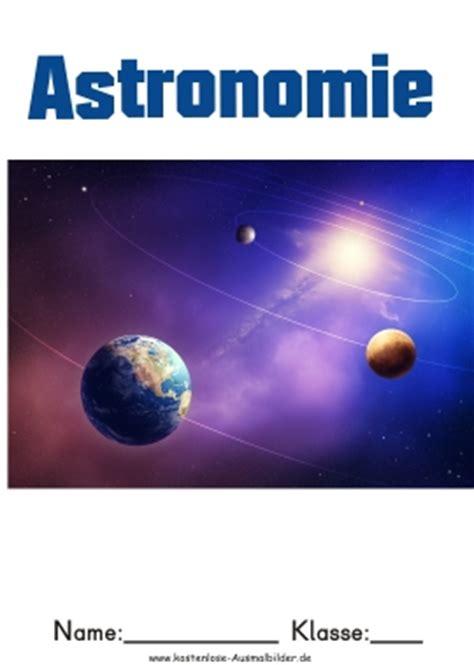 bunte deckblaetter astronomie deckblatt schule ordner
