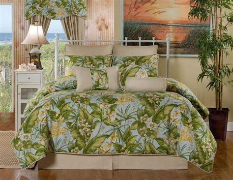 st croix beige green yellow blue floral tropical bedding