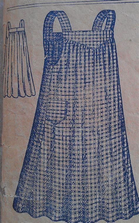 sewing pattern ladies pinafore dress antique vintage 1900s edwardian ladies work apron pinafore