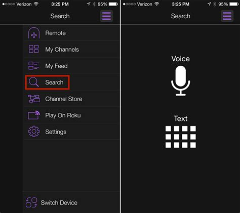 to roku from android the roku feed and voice search now available through the roku mobile app for android and ios