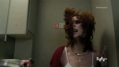 club bathroom porn here are all of the ridiculous gifs from sharknado 2