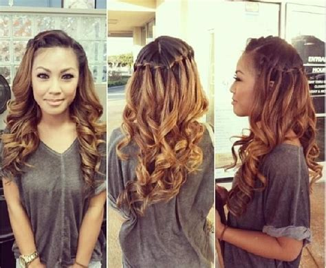front views of prom hair styles waterfall braid front view google search hair