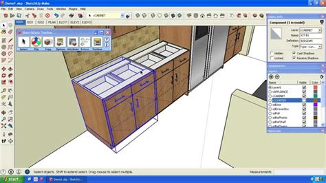 sketchup kitchen design using dynamic component cabinets tag for sketchup kitchen design using dynamic component