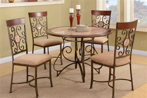 metal dining room chairs ebay dining room 5pc set french fashion table chairs metal