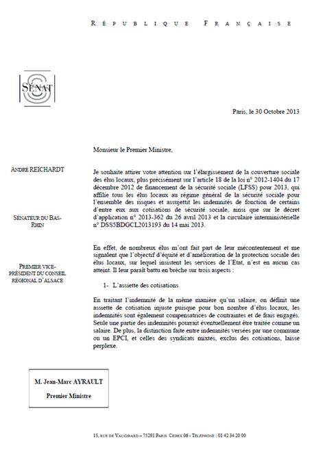Exemple De Lettre Demande De Rattachement La Protection Sociale Des 233 Lus Locaux