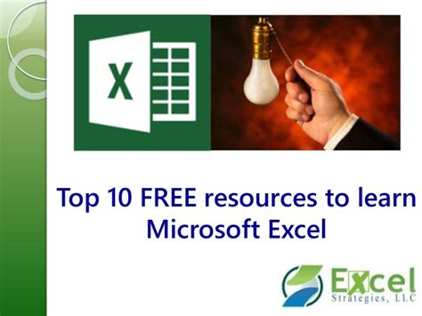 learning microsoft excel videos top10 free resources to learn microsoft excel