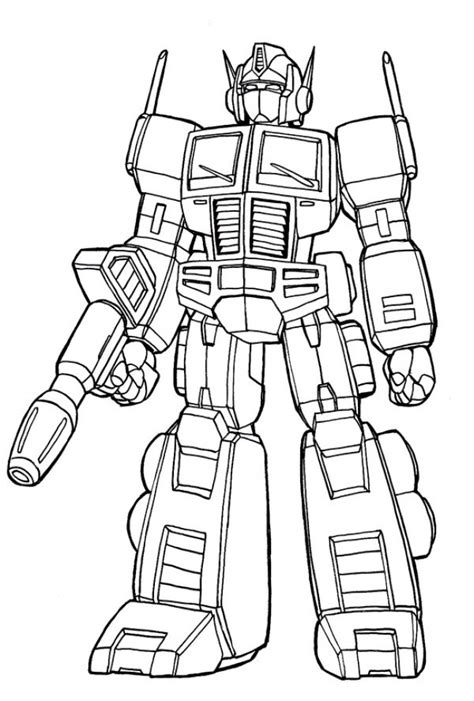 get this simple optimus prime coloring page to print for