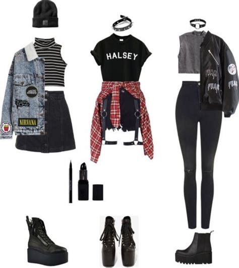 cute outfits for women pinterest pinterest musically gt francesca6372 punk style outfits