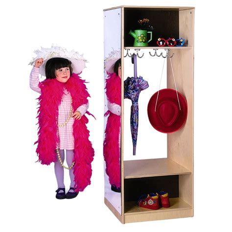 Preschool Wardrobe by Brothers Wb0885 Dress Up Wardrobe With Mirror