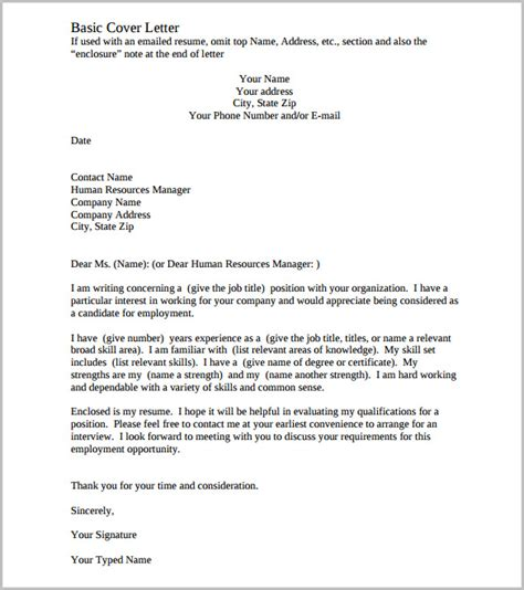 good cover letter template essential elements put