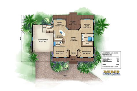 small florida house plans live large with a small house plan weber design group