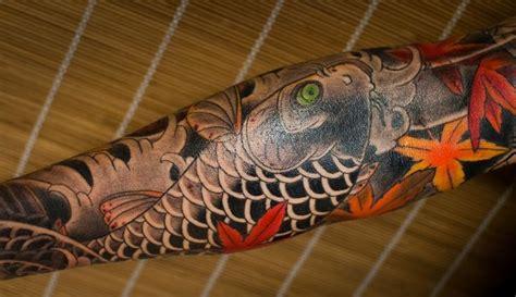 koi tattoo maple leaves horimatsu irezumi tattoos traditional fall image koi