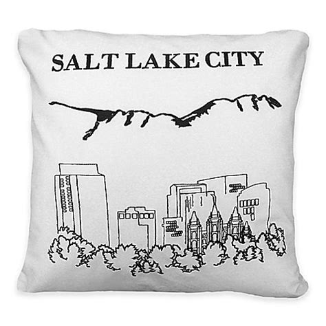 bed bath and beyond salt lake city passport postcard salt lake city square throw pillow in